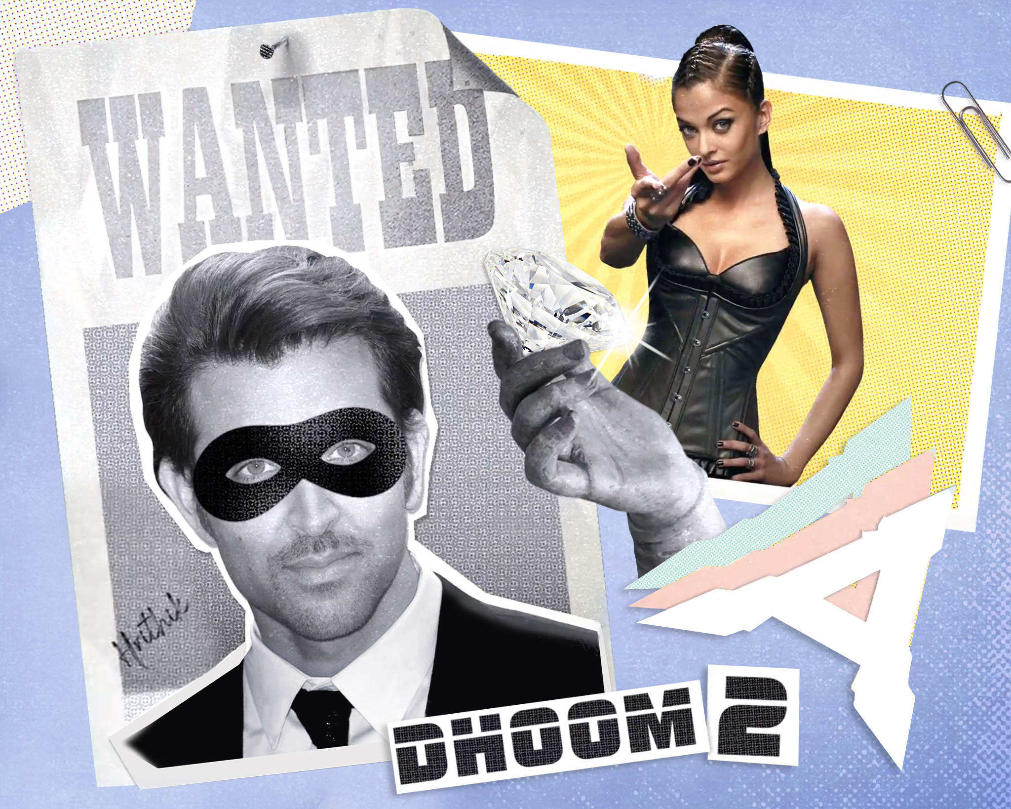 In the Bollywood hit 'Dhoom 2', two glamorous crooks team up to steal a precious diamond from a museum