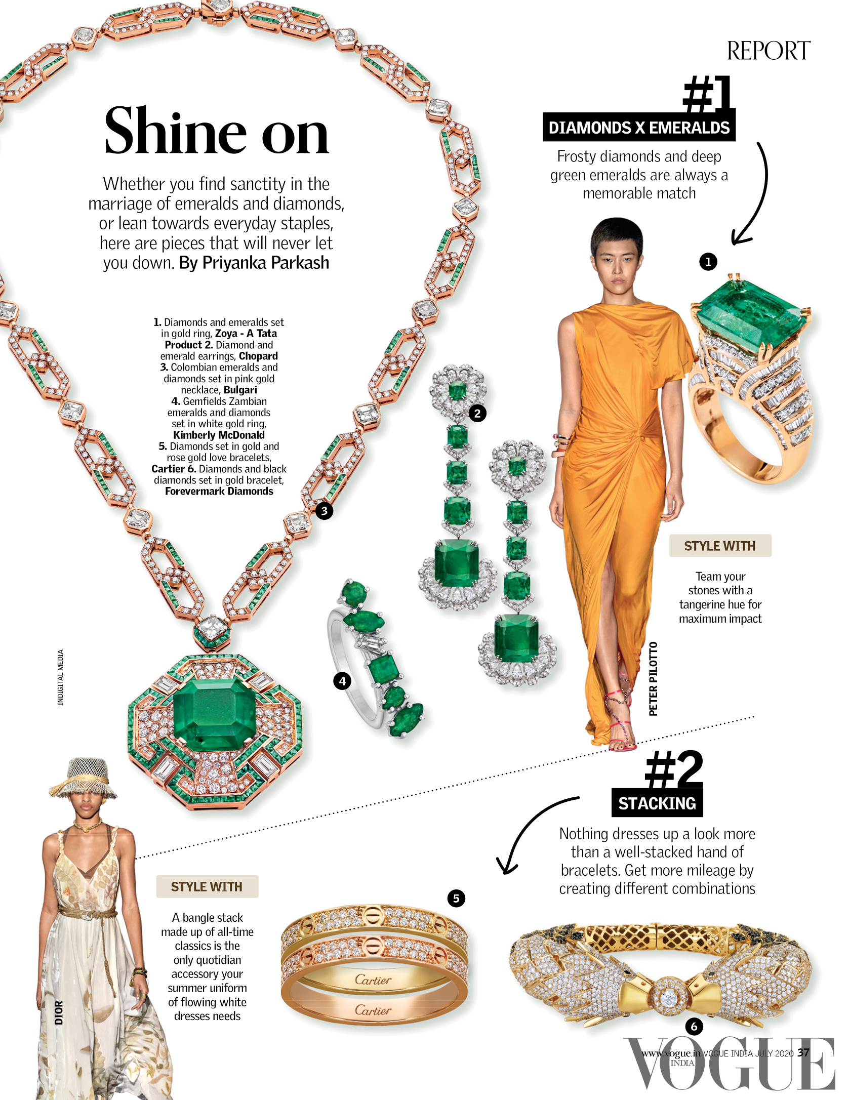 Natural Diamond council highlights its it's trending diamond pieces from the annual trend report