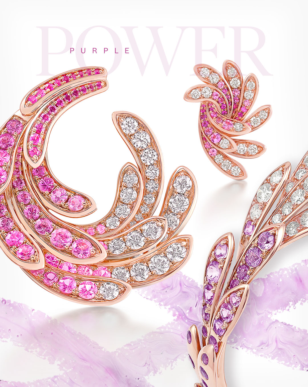 navratri-ring-earrings-Durga-Puja-natural-diamonds-jewellery-power-purple