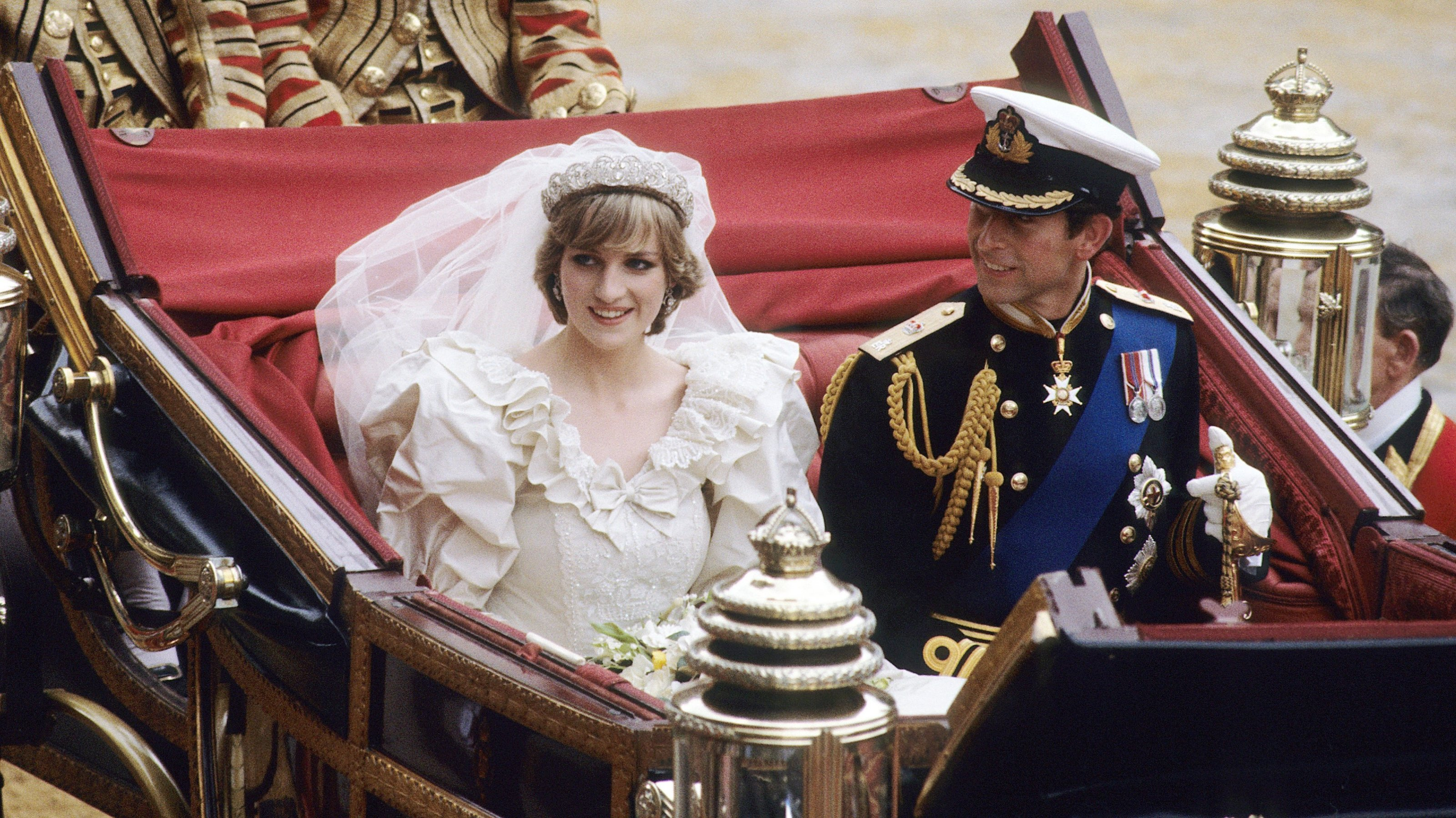 Princess Diana's wedding tiara, also known as the Spencer Tiara, worn by Diana on her special day