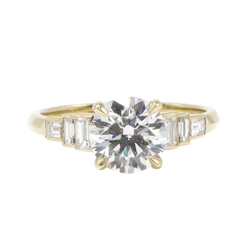 Evelyn Brilliant Cut Engagement Ring