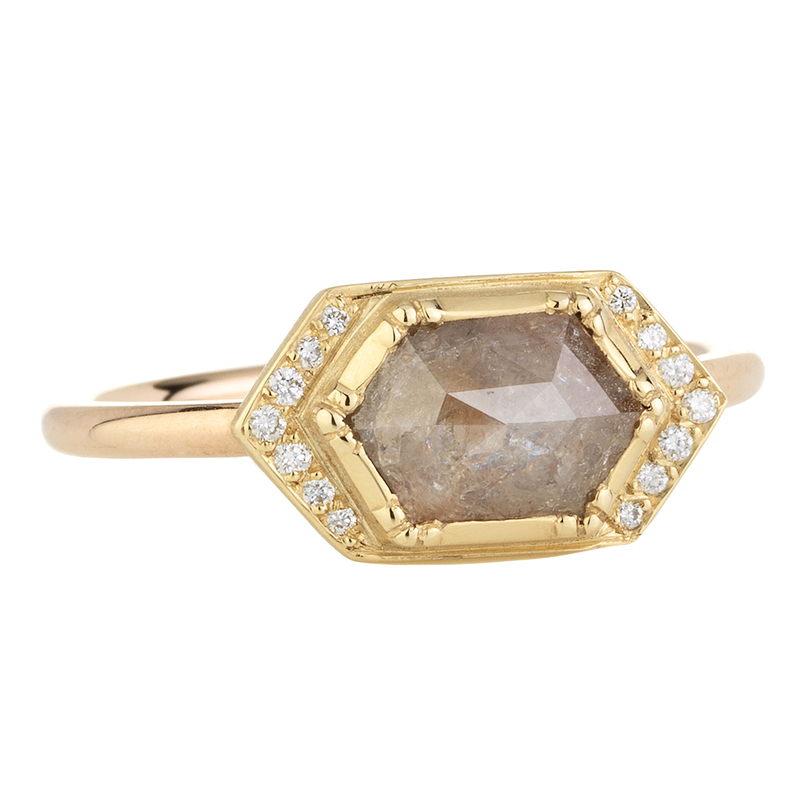 Diamond Geo Halo Ring