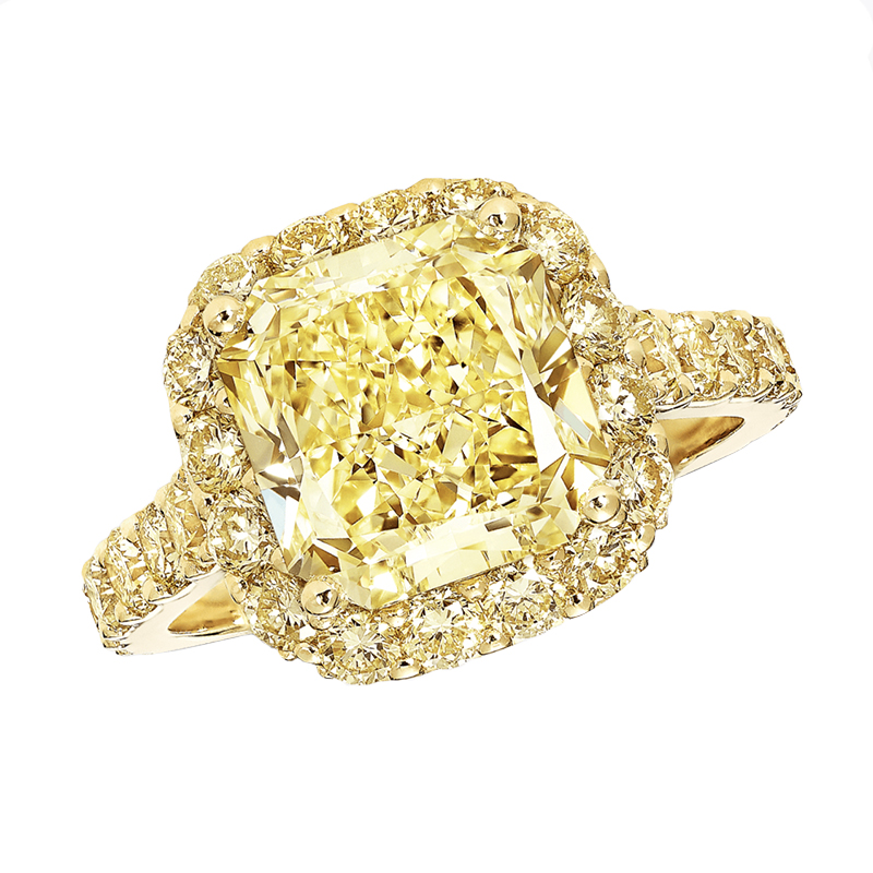 Icon Radiant Cut Yellow Diamond Engagement Ring