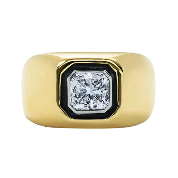 All That Is Radiant Cut Diamond Pinky Ring