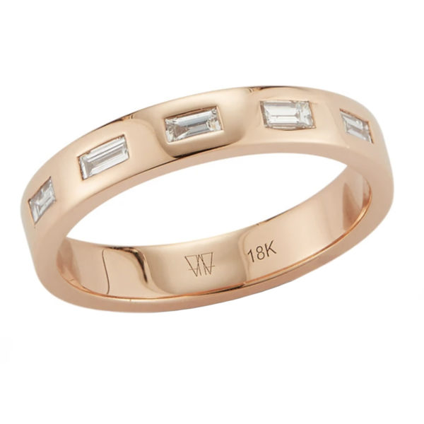 Ottoline 18K Diamond Baguette Ring