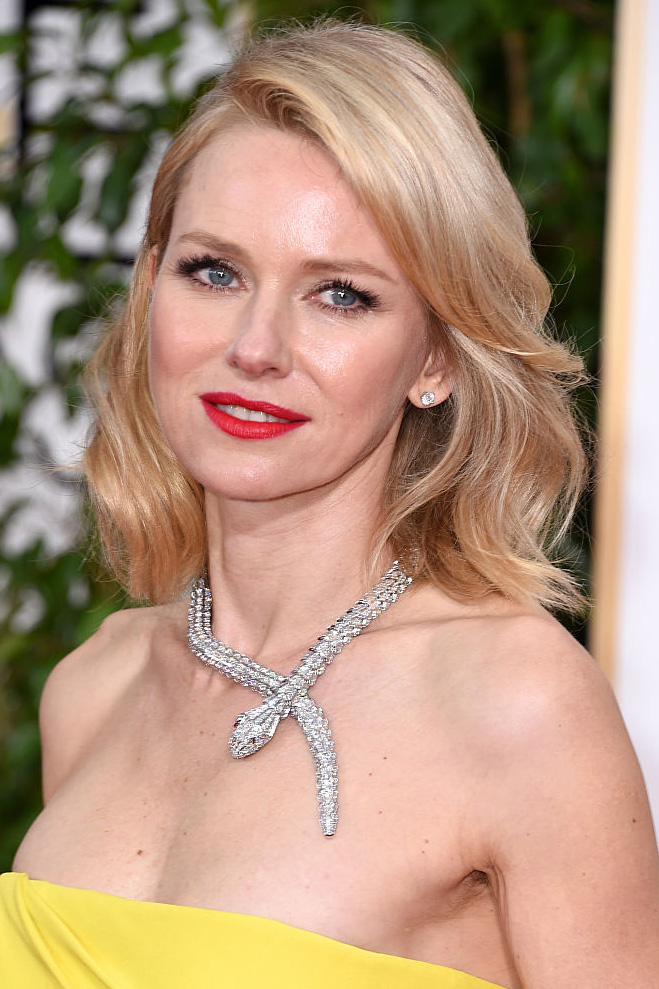 Actress Naomi Watts attends the 72nd Annual Golden Globe Awards at The Beverly Hilton Hotel on January 11, 2015 in Beverly Hills, California.
