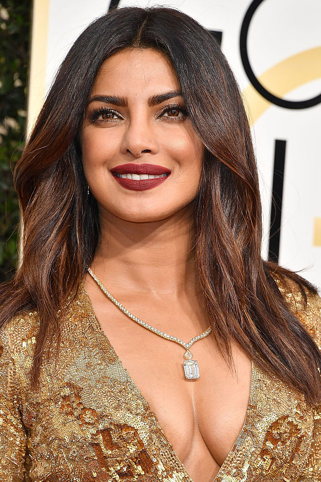 Priyanka Chopra arrives at the 74th Annual Golden Globe Awards at The Beverly Hilton Hotel on January 8, 2017 in Beverly Hills, California