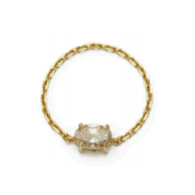 Oval Diamond Chain Ring