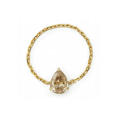 Pear Diamond Chain Ring