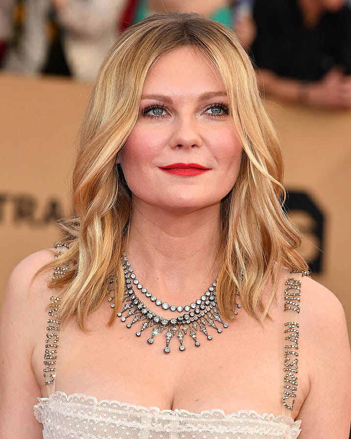 Kirsten Dunst in Fred Leighton diamonds