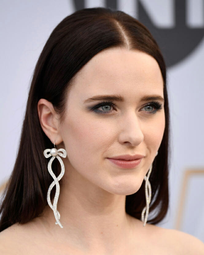 Rachel Brosnahan in Irene Neuwirth diamonds