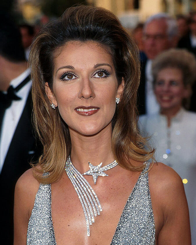 Celine Dion in Chanel at the Oscars in 1997