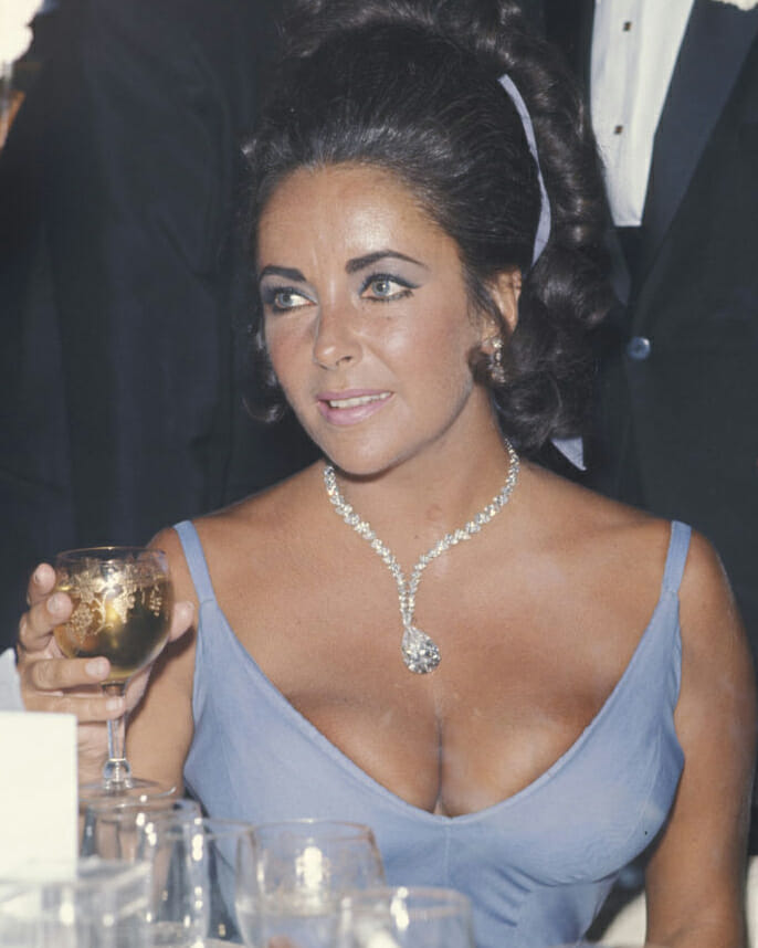 Elizabeth Taylor at the Academy Awards in 1970.