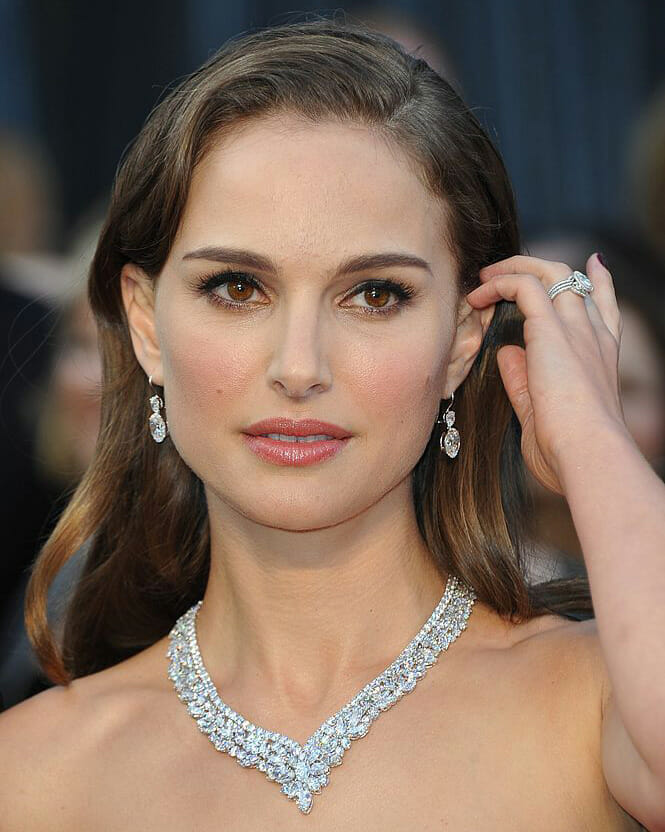 Natalie Portman arrives on the red carpet for the 84th Annual Academy Awards