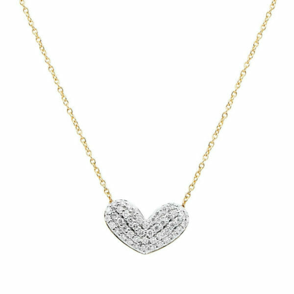 1/3 ct Diamond Reversible Heart Pendant