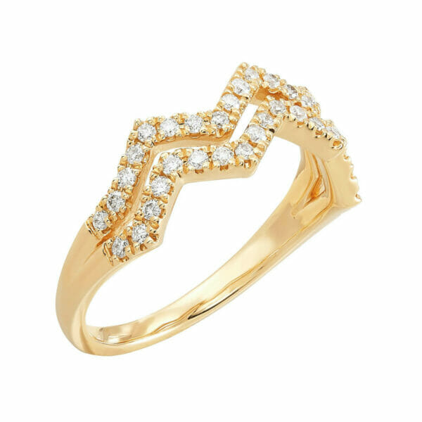 1/3 ct Diamond Zig Zag Ring