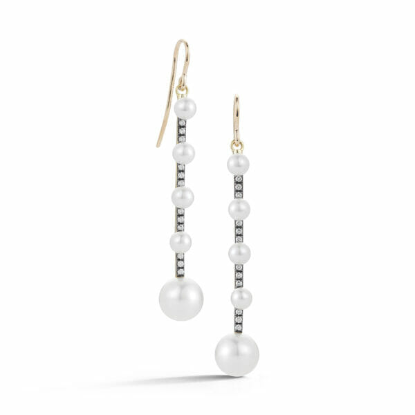 Prive White Pearl Drop Earrings
