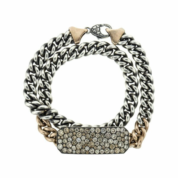 Champagne Diamond Ten Table Wrap Bracelet and Choker