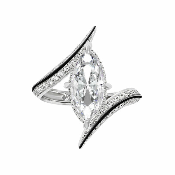 Ayla Marquise-Cut Diamond Engagement Ring