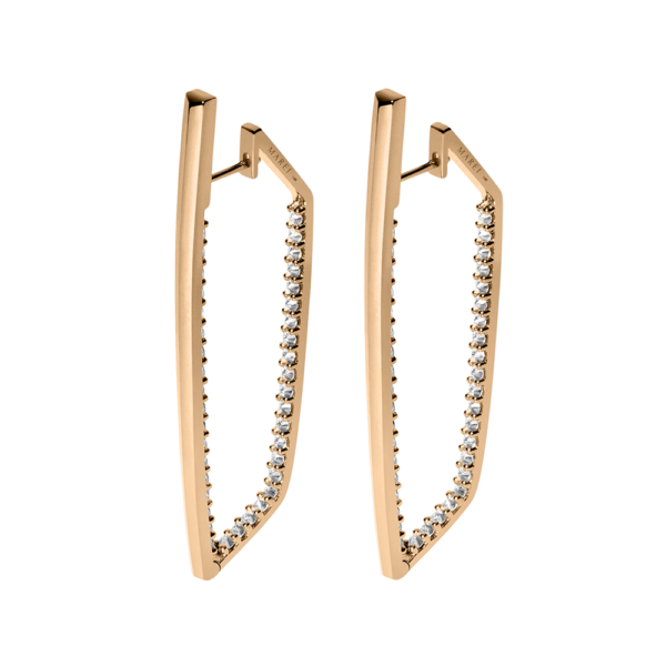 Lilith Pavè Diamond Studded Hinged Hoop Earrings