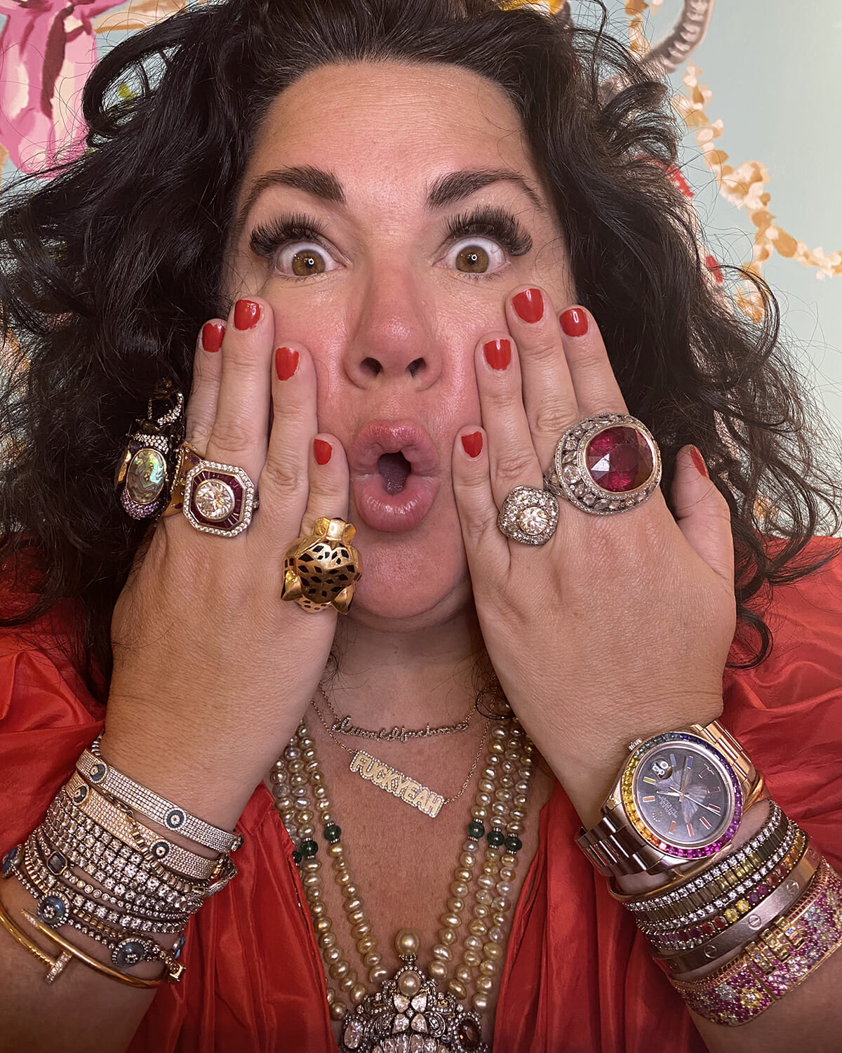 Ashley Longshore's ring collection.