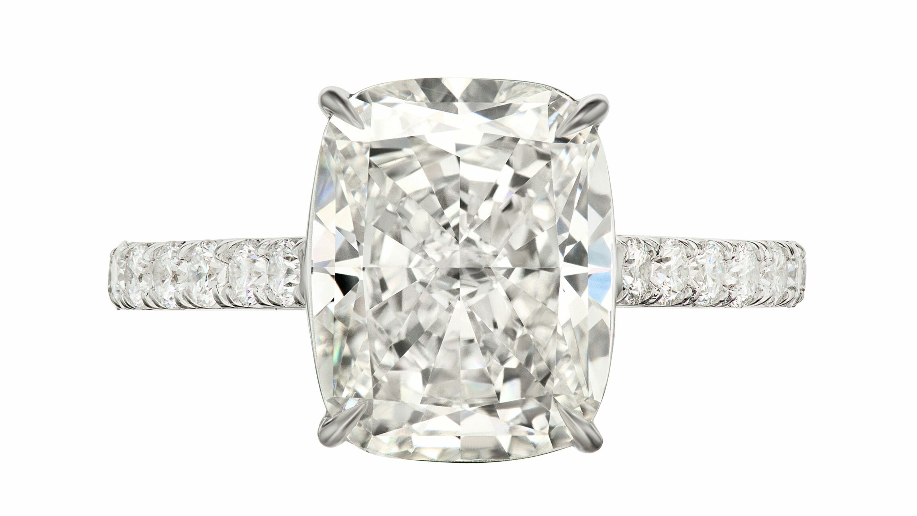 Sotheby's diamond and platinum ring.