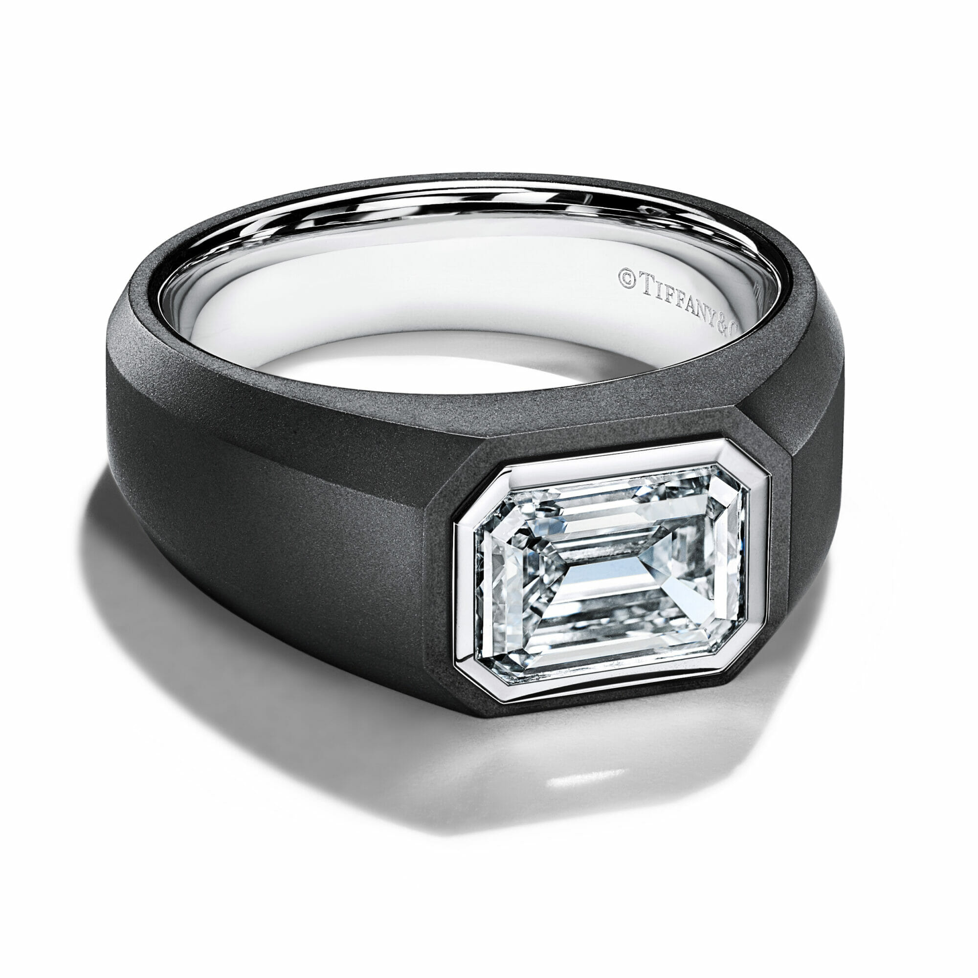 The Charles Tiffany Setting engagement ring for men.