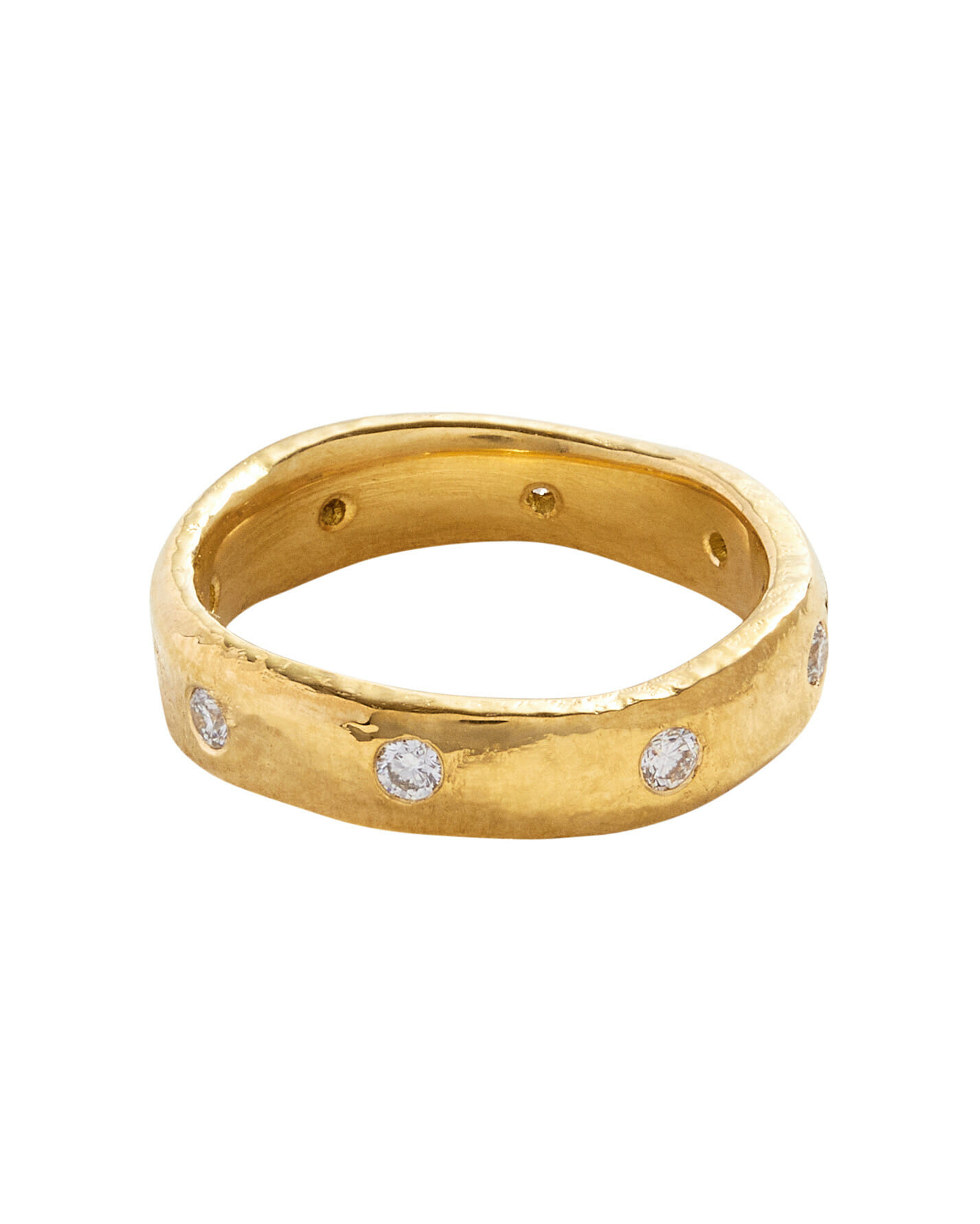 Diamond Wedding Band for every budget stacked ring artisan ring yellow gold