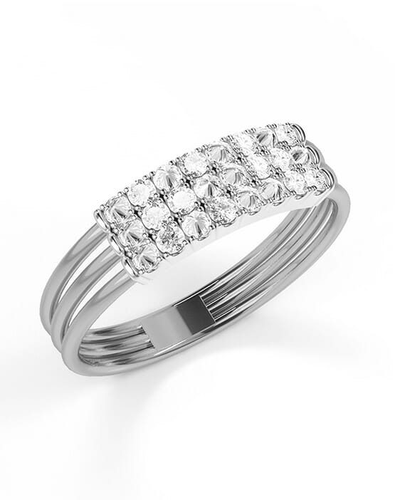 Diamond Wedding Band for every budget stacked ring