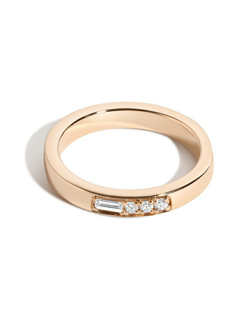 Affordable Diamond Wedding Band for every budget stacked ring artisan ring yellow gold