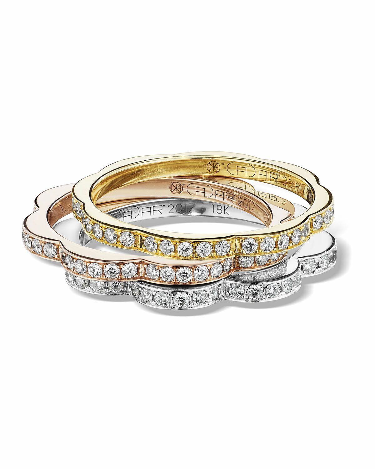Diamond Wedding Band for every budget ring stack