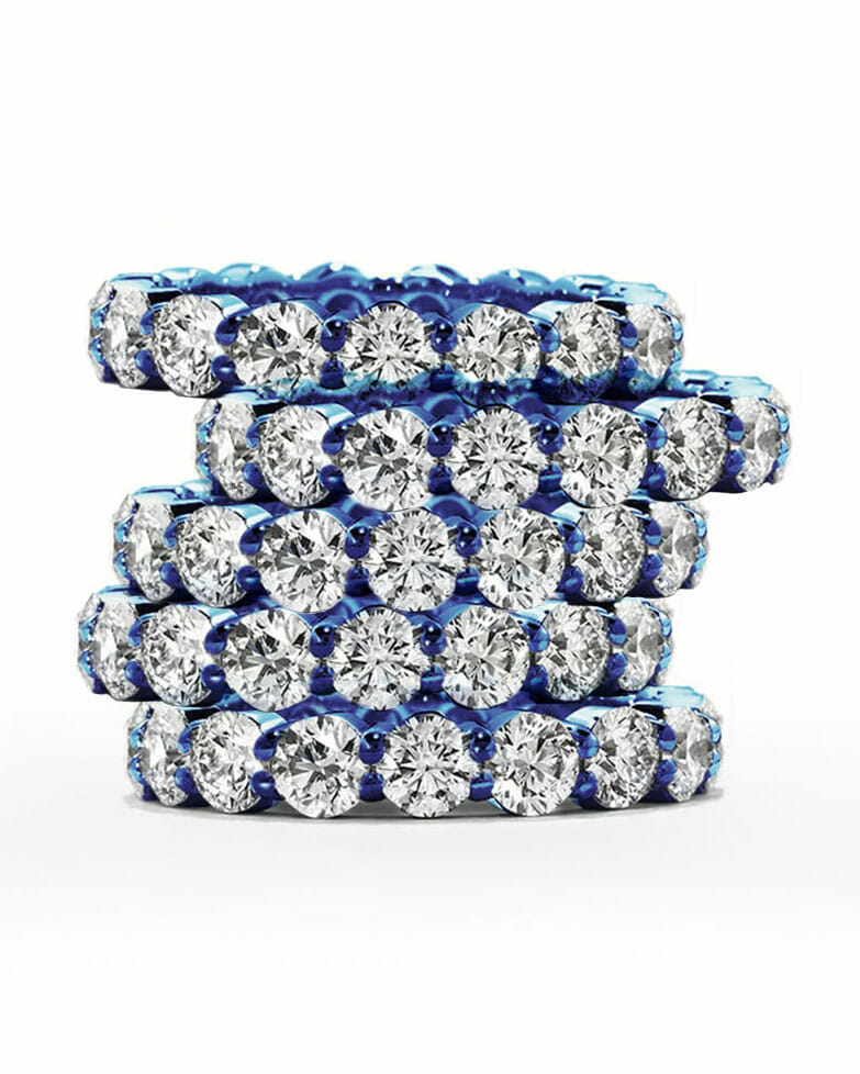 Diamond rings for every budget stacked ring