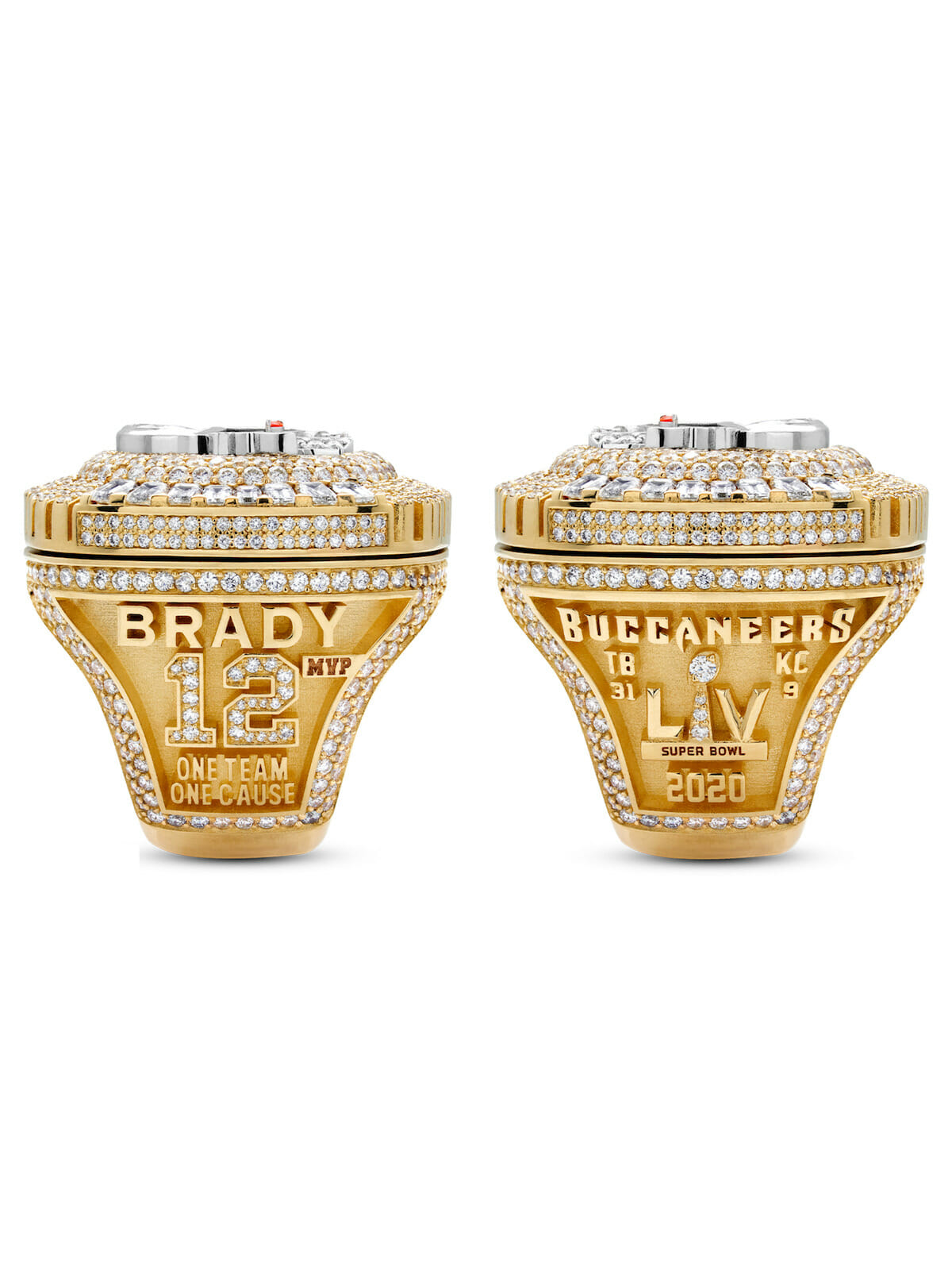 Side of the Tampa Bay Buccaneers Super Bowl Ring