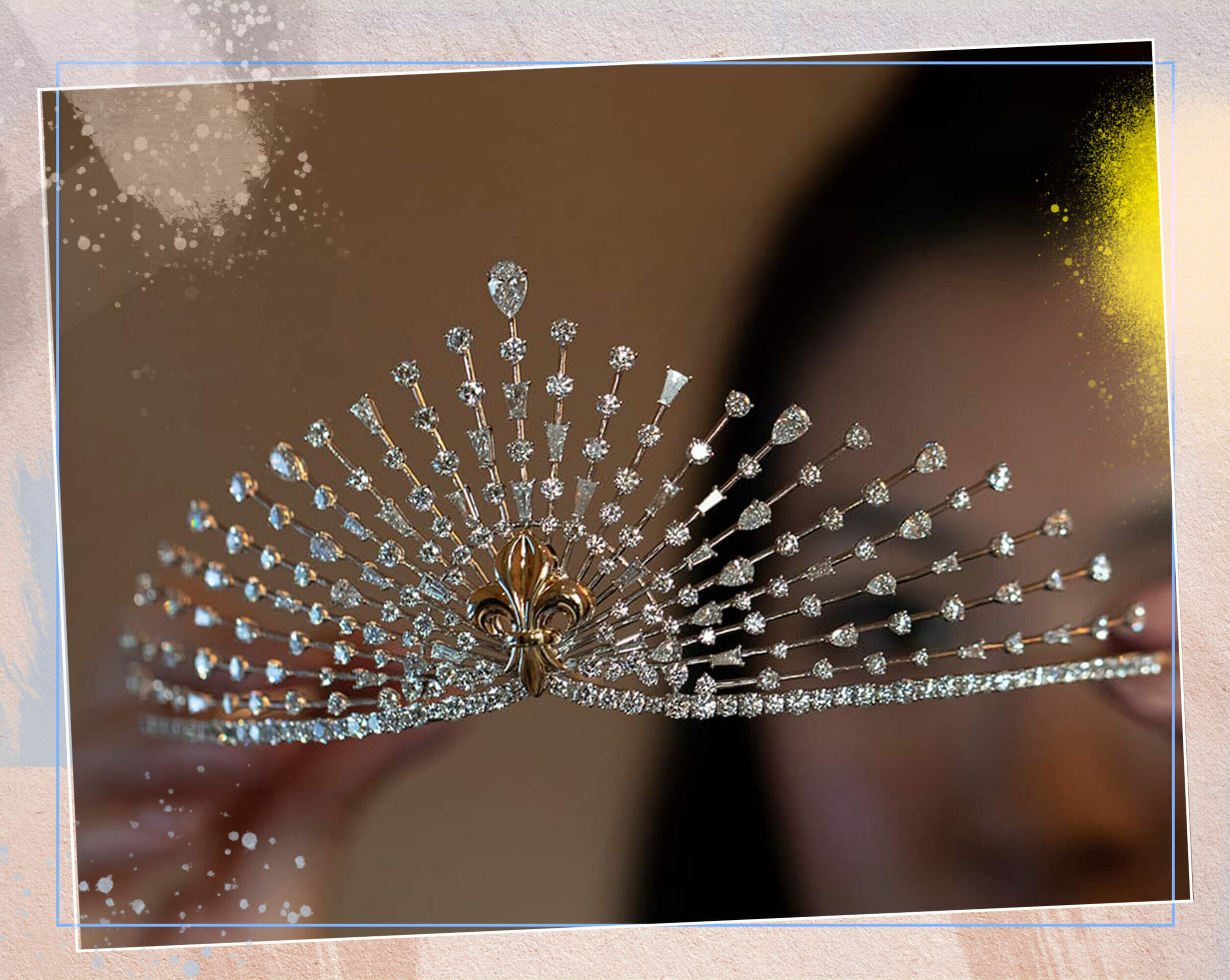 An exquisite natural diamond tiara crafted by Harakh Mehta