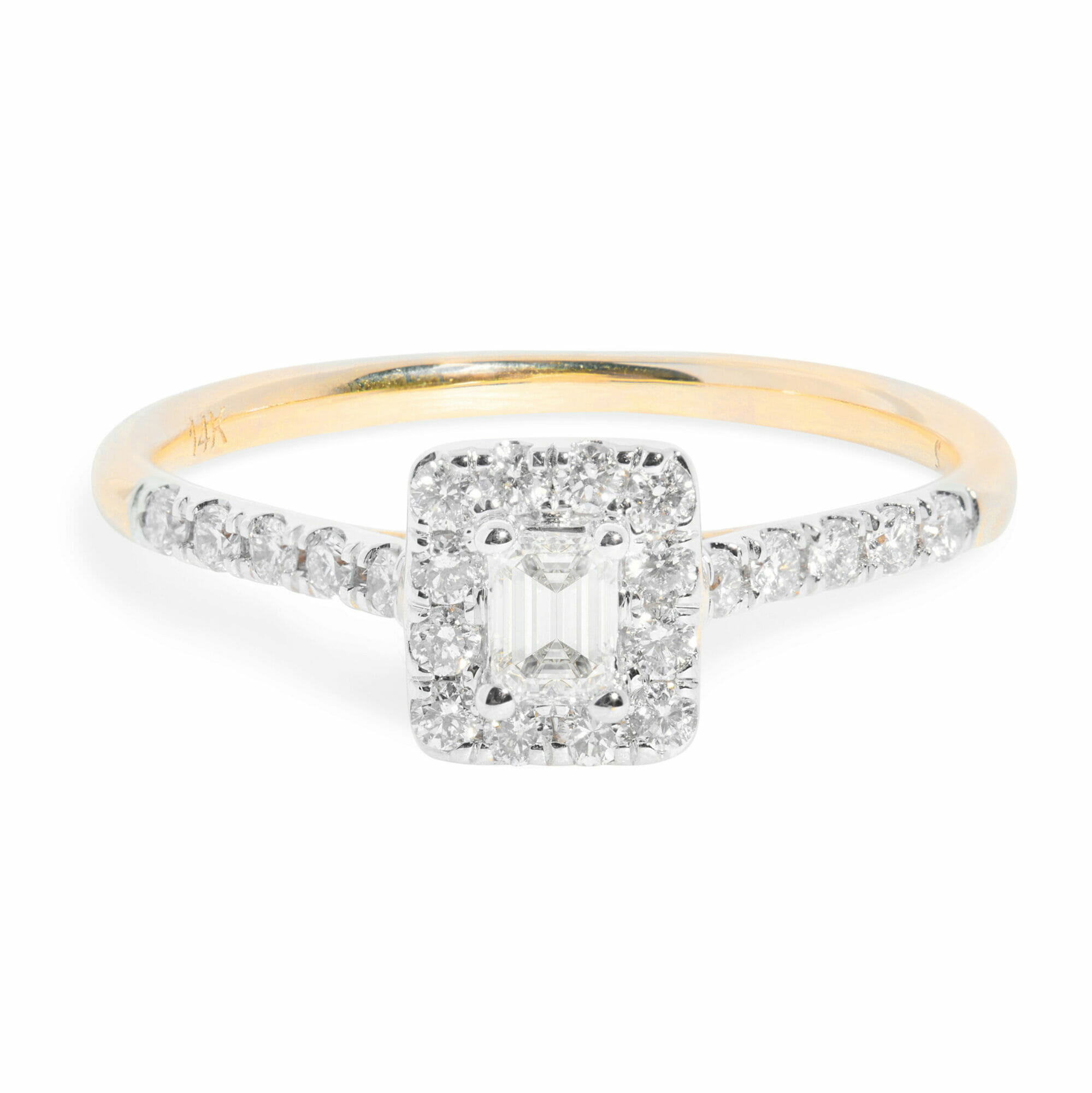 stone and strand vintage inspired diamond engagement ring