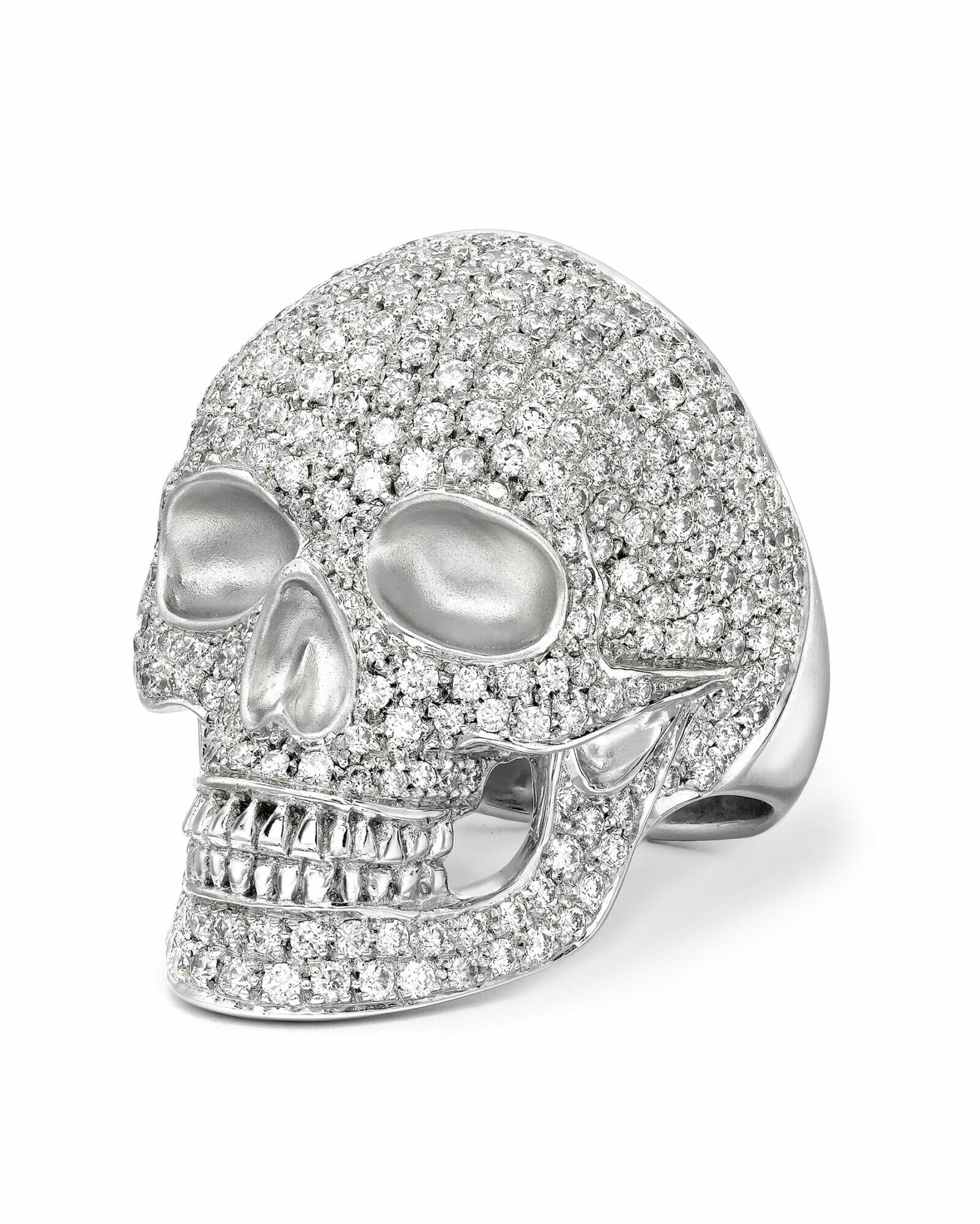 the fennell works british jewelry designers diamonds ring skull